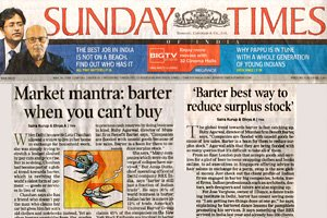 Sunday Times of India - Market Mantra: Barter when you can't buy