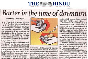 The Hindu - Barter in the time of downturn