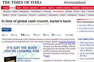 The Times of India - In time of global cash crunch, barter's back