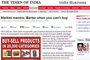 The Times of India - Market mantra: Barter when you can'r buy