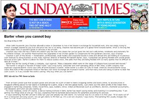 Sunday Times of India - Barter when you cannot buy